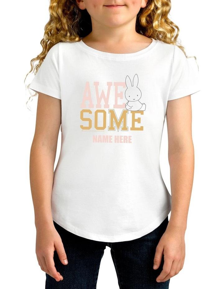 Twidla Girl's Miffy Awesome Personalised Cotton T-Shirt image 1