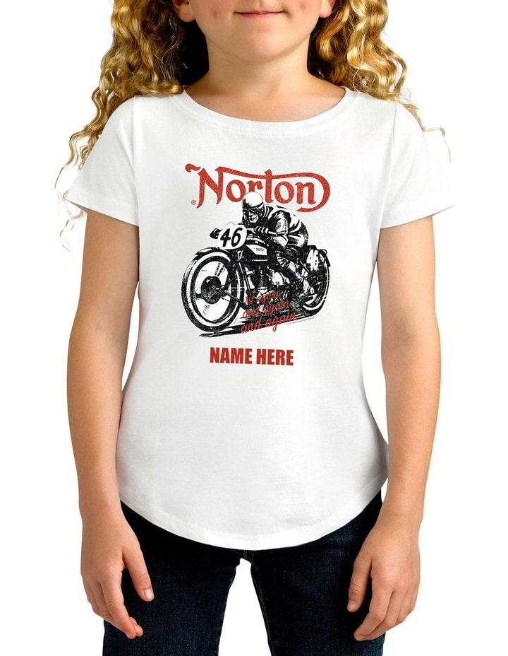 Girl's Norton 46 Personalised Cotton T-Shirt image 1