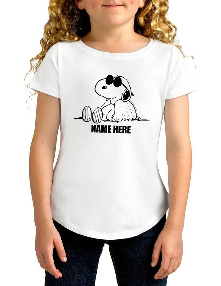Twidla Girl's Peanuts Sunglasses Snoopy Personalised Cotton T-Shirt image 1