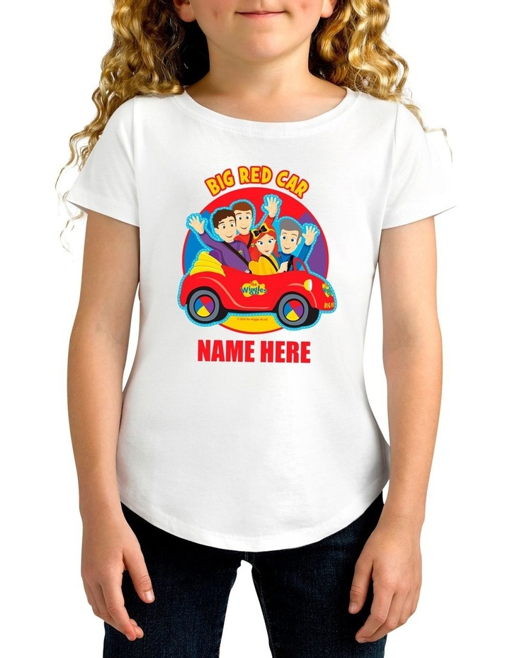 Girl's The Wiggles Big Red Car Personalised Cotton T-Shirt image 1