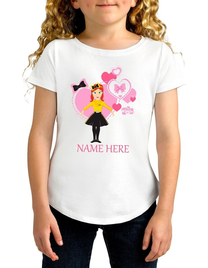 277687eecbe2 Twidla Girl s The Wiggles Emma Pink Hearts Personalised Cotton T-Shirt  image 1