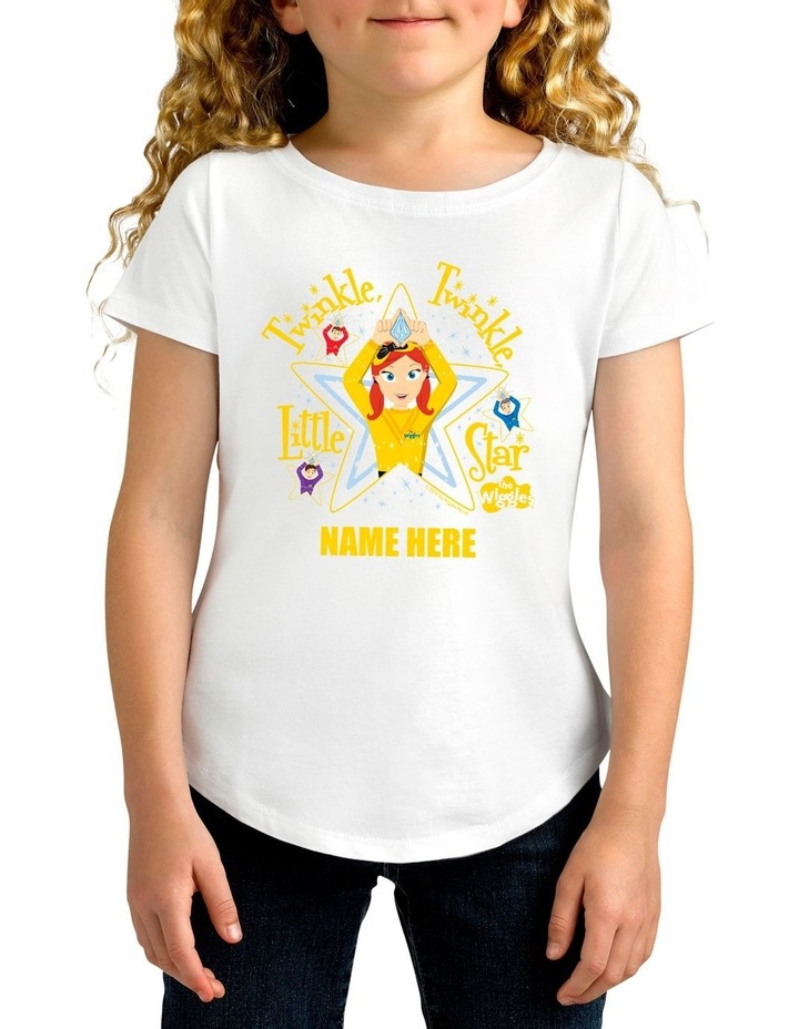 Girl's The Wiggles Twinkle Twinkle Little Star Personalised Cotton T-Shirt image 1