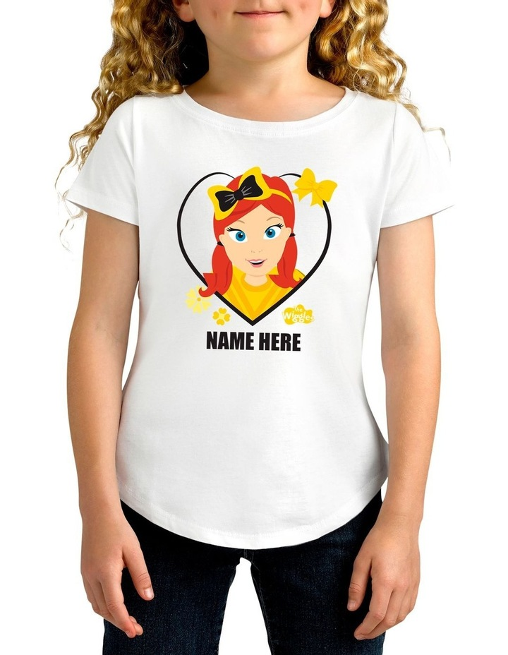 Girl's The Wiggles Love Emma Personalised Cotton T-Shirt image 1