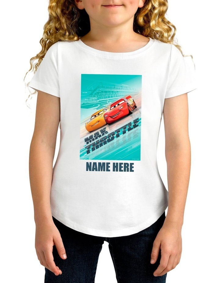 Girl's Disney Cars Max Personalised Cotton T-Shirt image 1