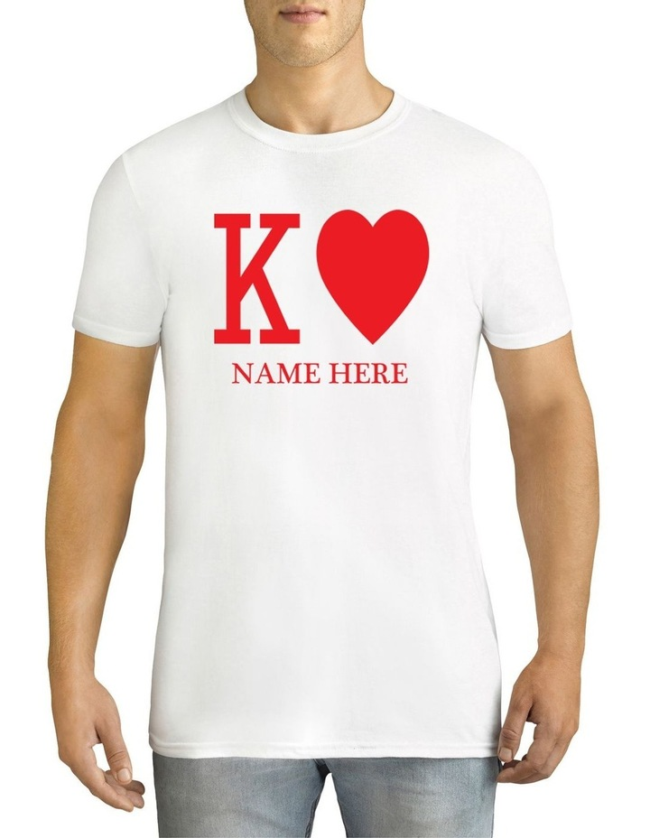 Men's Valentine's Day K Personalised Cotton T-Shirt image 1