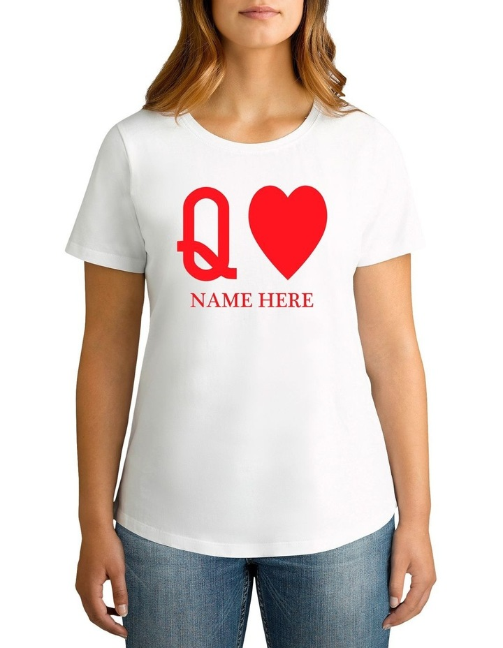 Women's Valentine's Day Q Personalised Cotton T-Shirt image 1