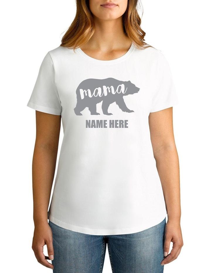 Personalised Women's Mama Bear T-Shirt image 1