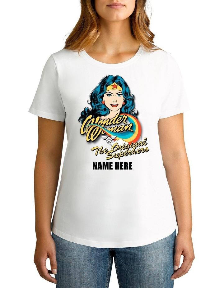 Personalised Women's Wonder Woman The Original Superhero T-Shirt image 1