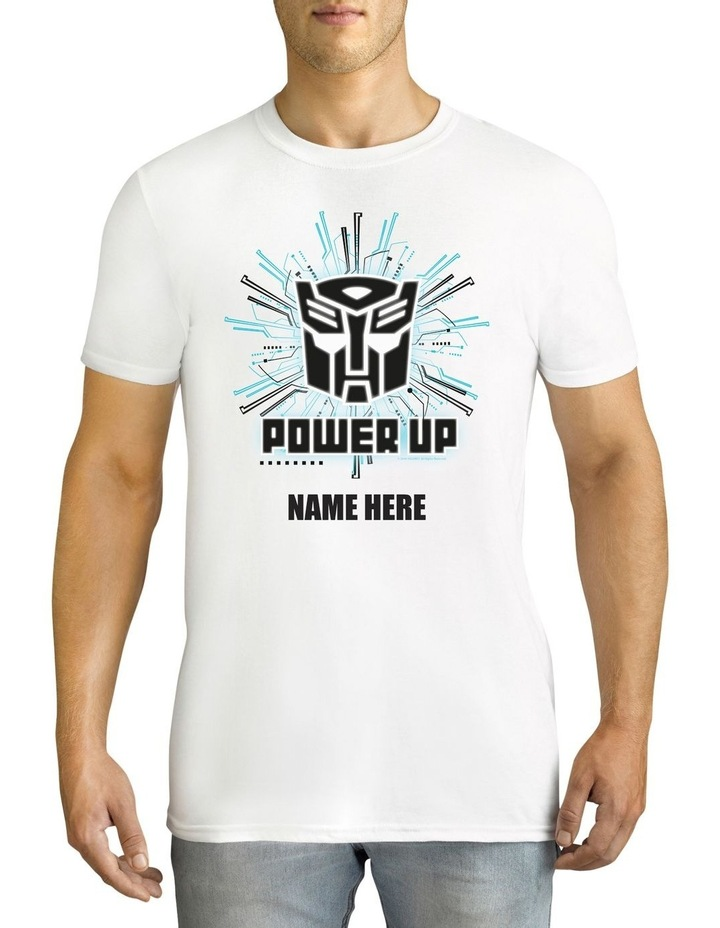 Twidla Men's Father's Day Transformers Power Up Personalised Cotton T-Shirt image 1
