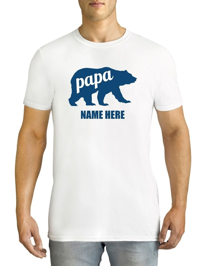 Twidla Men's Father's Day Papa Bear Personalised Cotton T-Shirt image 1
