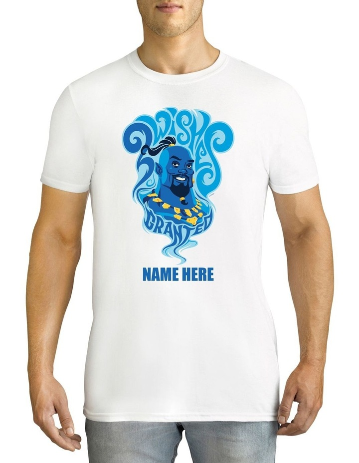 Men's Disney Aladdin Genie Personalised Cotton T-Shirt image 1
