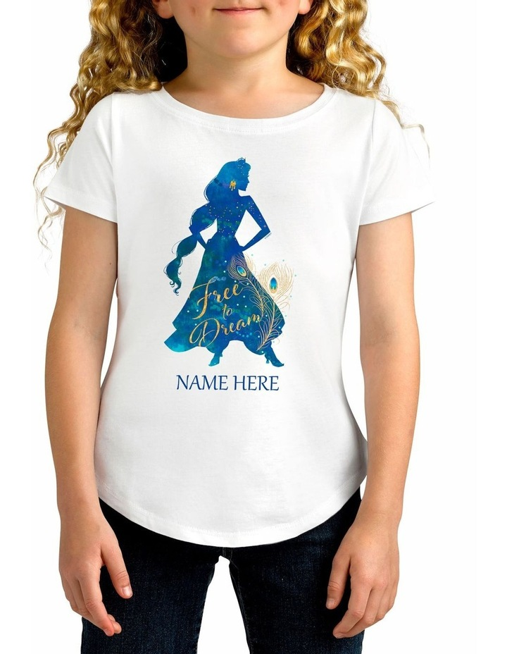 Girl's Aladdin Jasmine Personalised Cotton T-Shirt image 1