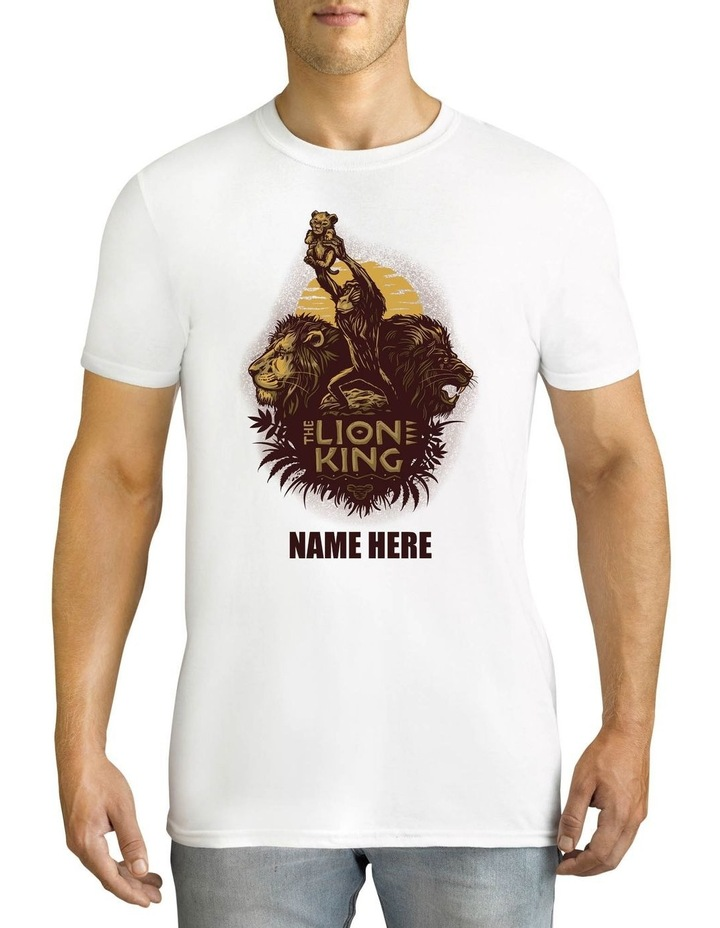 Men's Disney The Lion King Personalised Cotton T-Shirt image 1