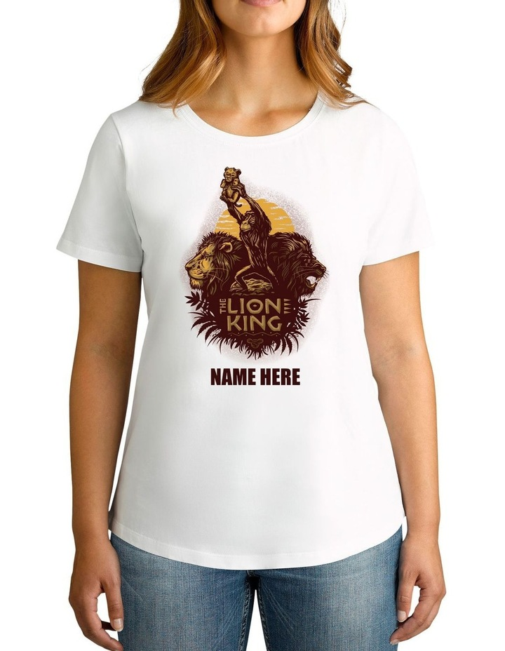 Women's The Lion King Personalised Cotton T-Shirt image 1