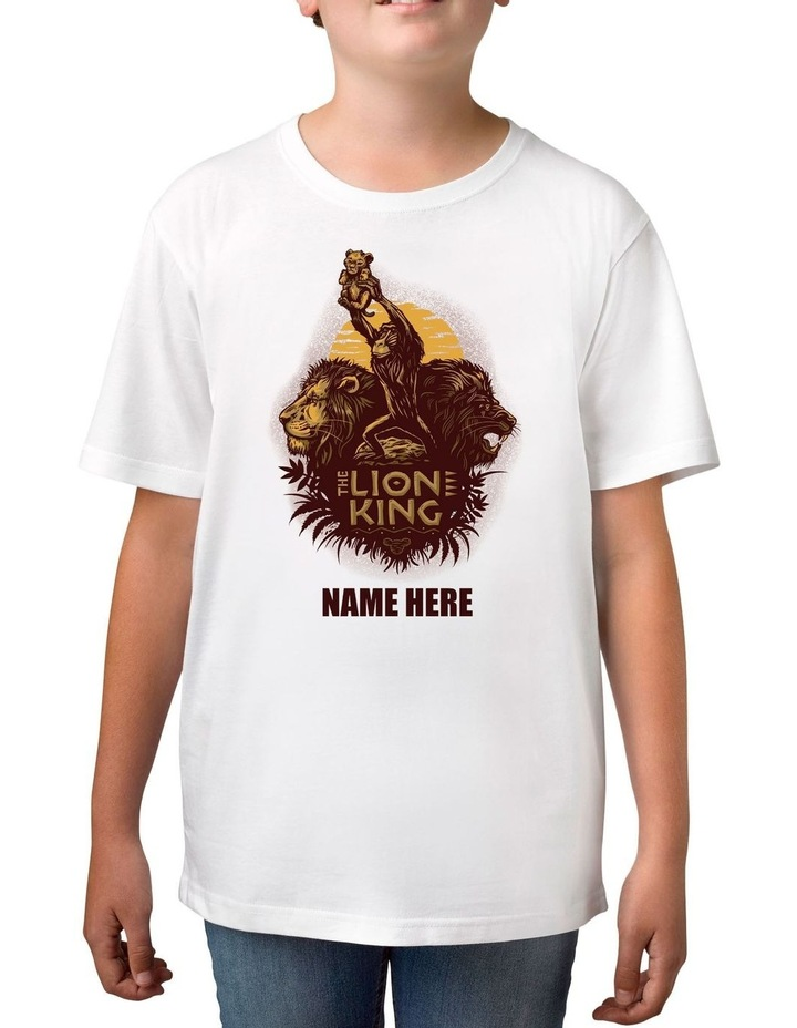 Boy's The Lion King Personalised Cotton T-Shirt image 1