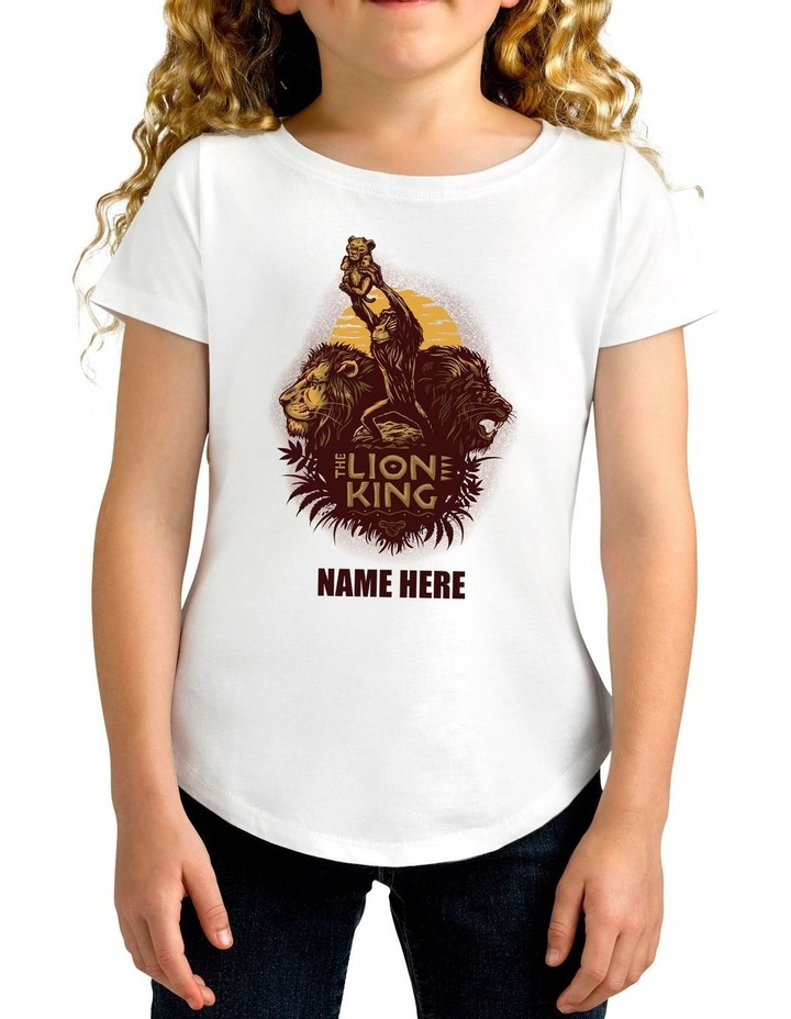 Girl's The Lion King Personalised Cotton T-Shirt image 1