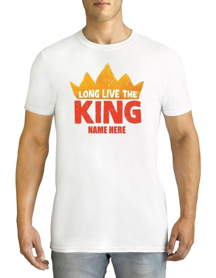 Men's Disney Long Live King Personalised Cotton T-Shirt image 1