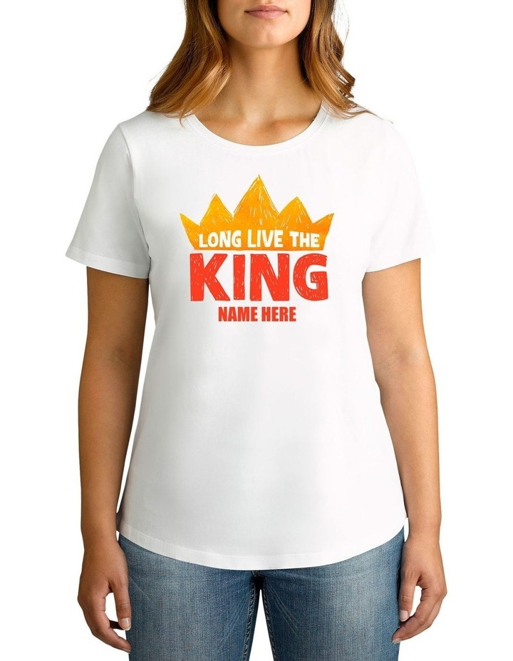 Women's Long Live King Personalised Cotton T-Shirt image 1