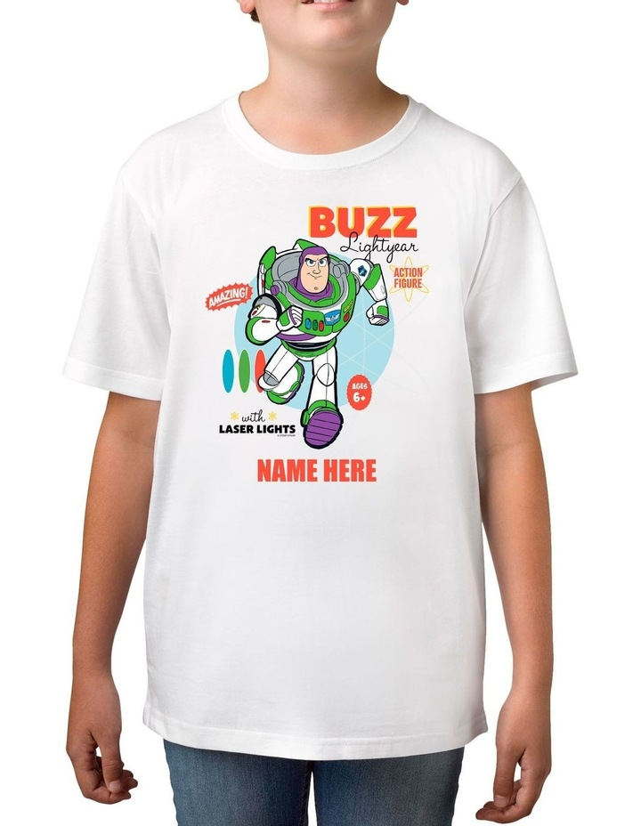 Boy's Toy Story 4 Buzz Lightyear Personalised Cotton T-Shirt image 1