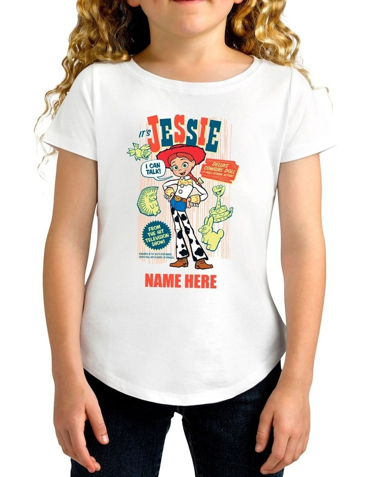 Girl's Toy Story 4 Jessie Personalised Cotton T-Shirt image 1