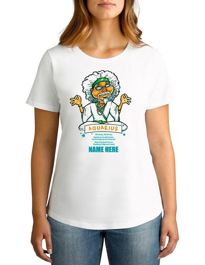 Women's Zodiac Aquarius Personalised Cotton T-Shirt image 1