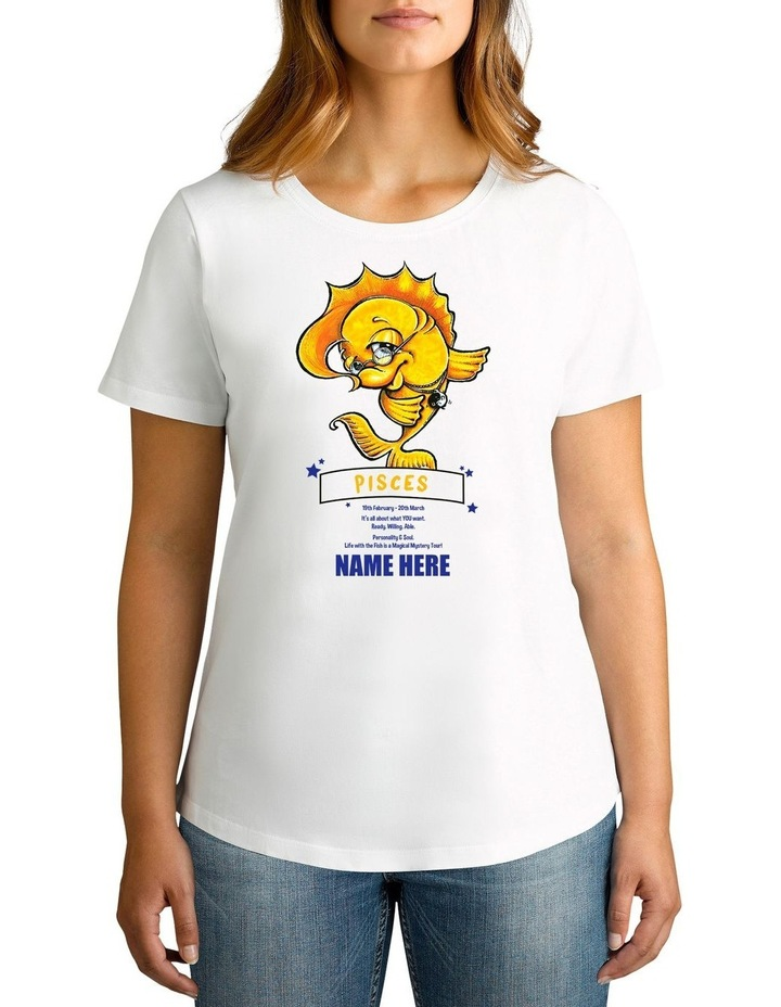 Women's Zodiac Pisces Personalised Cotton T-Shirt image 1