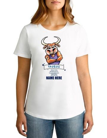 1443a4025 TWIDLA Personalised T-Shirts Twidla Women's Zodiac Taurus Personalised  Cotton T-Shirt