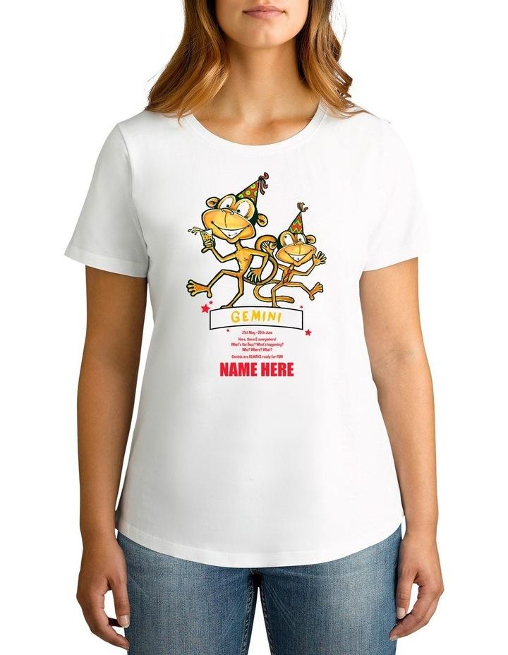 Women's Zodiac Gemini Personalised Cotton T-Shirt image 1