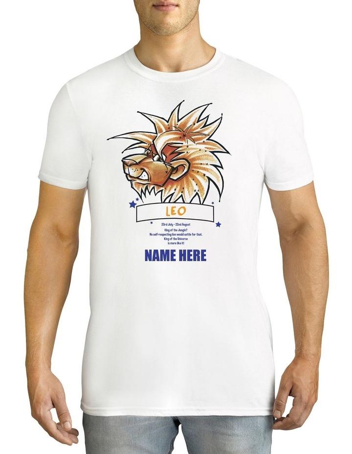 Men's Zodiac Leo Personalised Cotton T-Shirt image 1