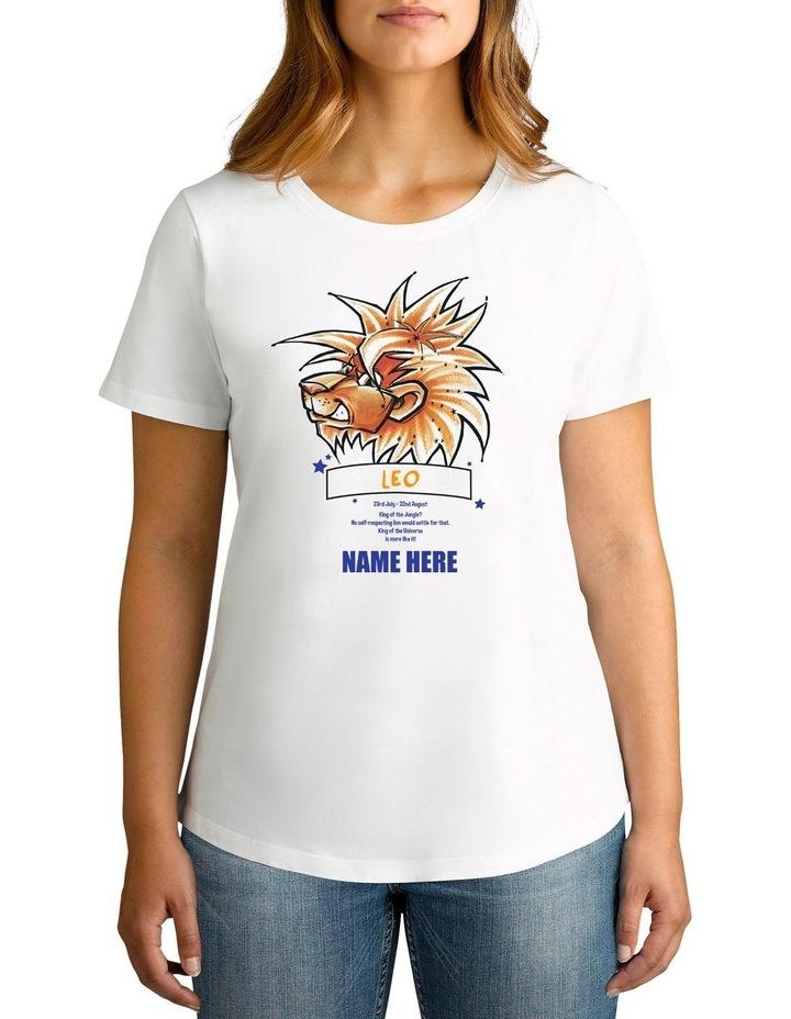 Women's Zodiac Leo Personalised Cotton T-Shirt image 1
