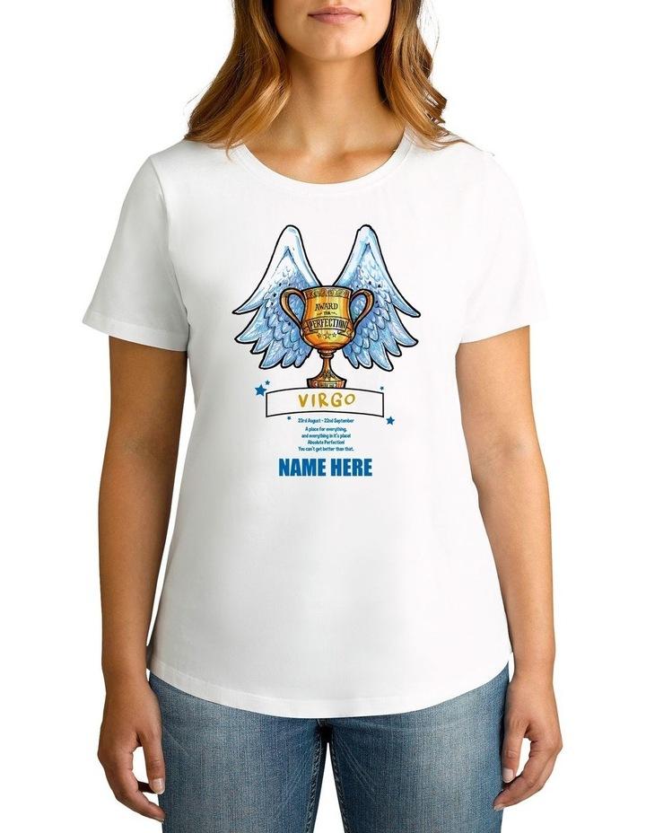 Women's Zodiac Virgo Personalised Cotton T-Shirt image 1