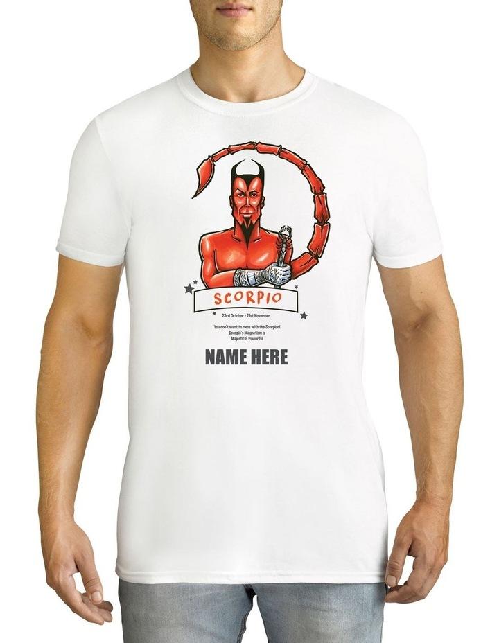 Men's Zodiac Scorpio Personalised Cotton T-Shirt image 1