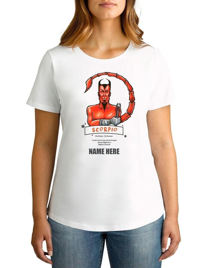 Women's Zodiac Scorpio Personalised Cotton T-Shirt image 1