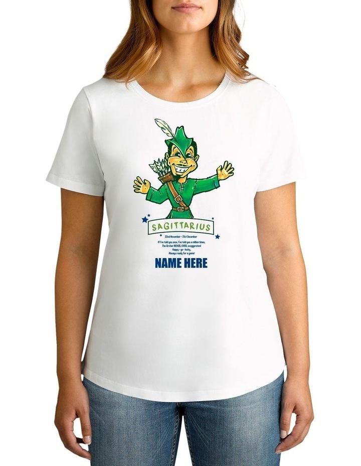 Women's Zodiac Sagittarius Personalised Cotton T-Shirt image 1