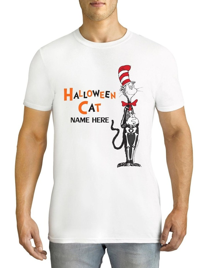 Men's Dr Seuss Halloween Cat Personalised Cotton T-Shirt image 1