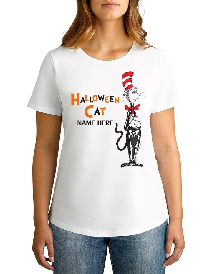 Women's Dr Seuss Halloween Cat Personalised Cotton T-Shirt image 1