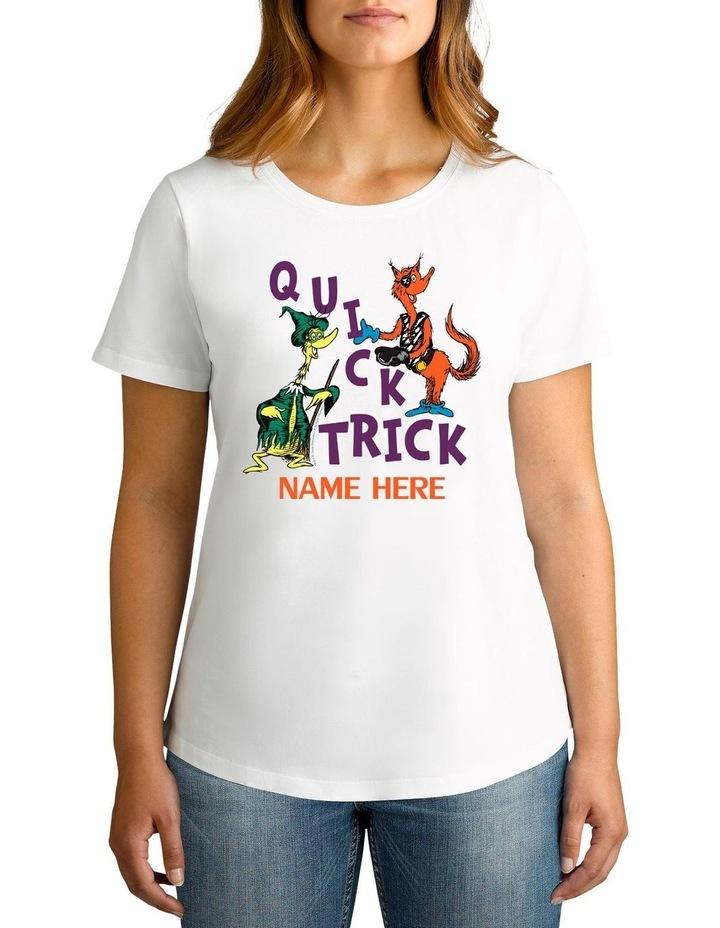 Women's Dr Seuss Halloween Quick Trick Personalised Cotton T-Shirt image 1