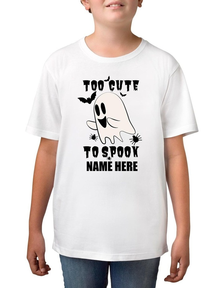 Boy's Halloween Spook Personalised Cotton T-Shirt image 1