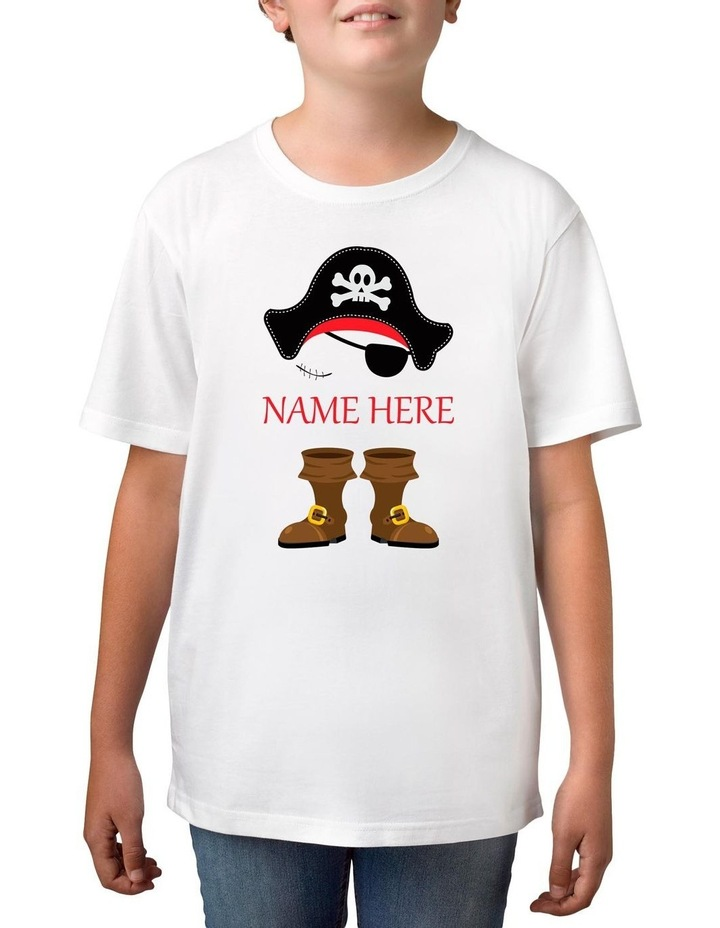 Boy's Halloween Pirate Personalised Cotton T-Shirt image 1