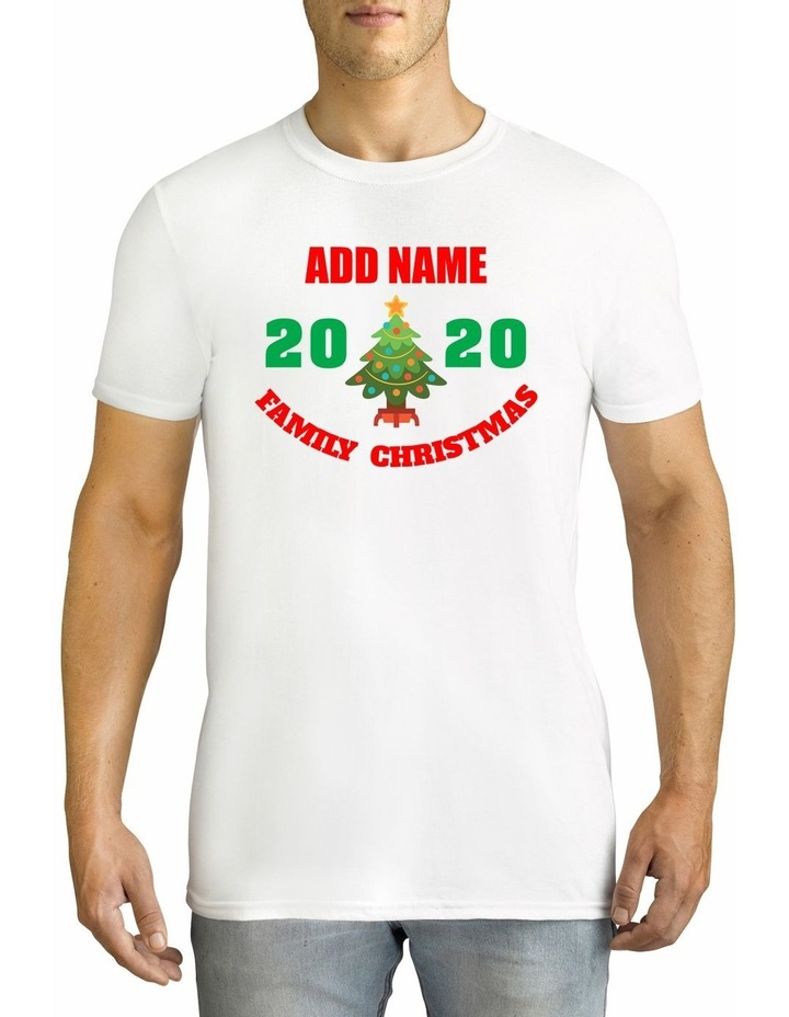Men's 2020 Family Christmas Personalised Cotton T-Shirt image 1