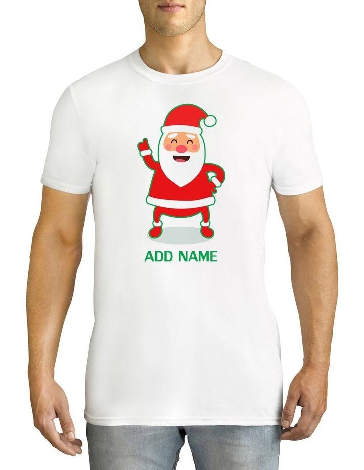 Men's Cool Santa Personalised Cotton T-Shirt image 1