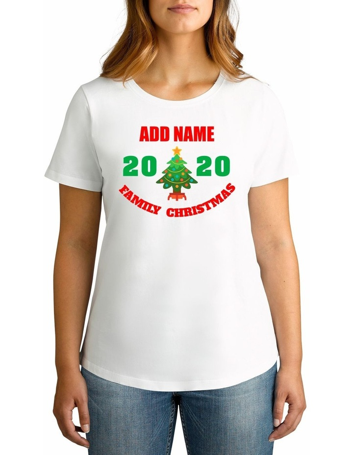 Women's 2020 Family Christmas Personalised Cotton T-Shirt image 1