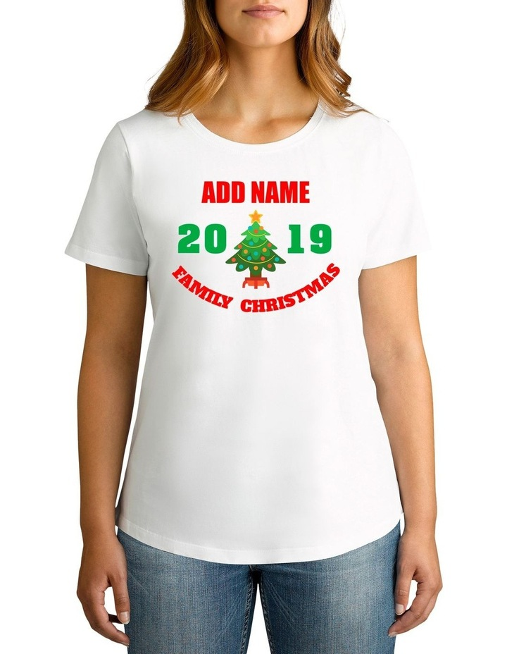 Women's 2019 Family Christmas Personalised Cotton T-Shirt image 1