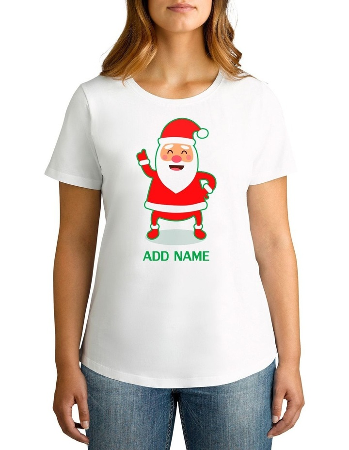 Women's Cool Santa Personalised Cotton T-Shirt image 1