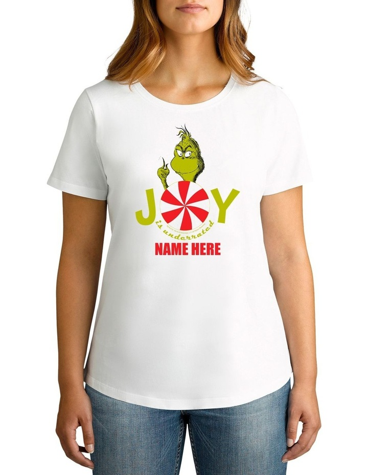 Women's Dr Seuss The Grinch Joy Personalised Cotton T-Shirt image 1