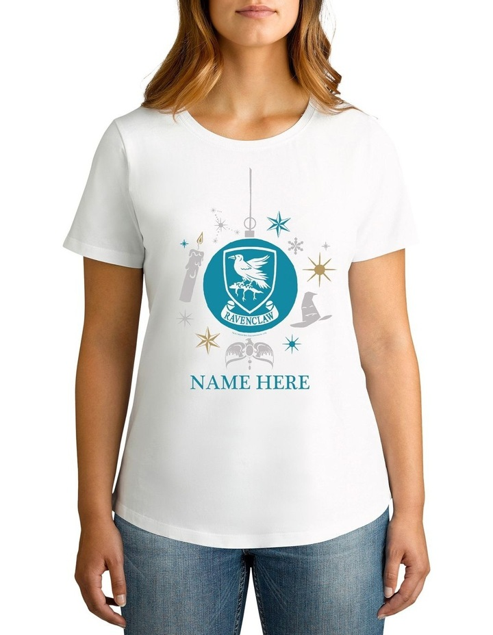 Women's Harry Potter Ravenclaw Xmas Personalised Cotton T-Shirt image 1