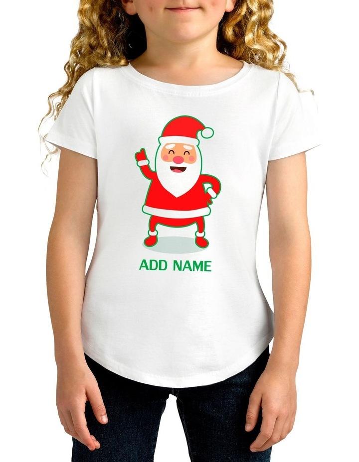Girl's Cool Santa Personalised Cotton T-Shirt image 1