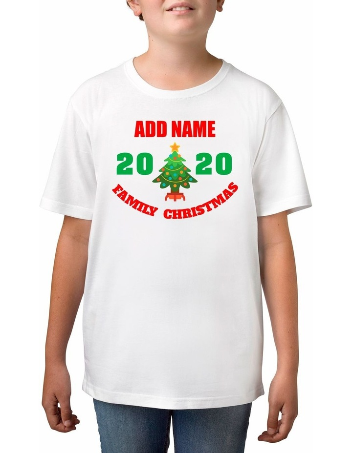 Boy's 2020 Family Christmas Personalised Cotton T-Shirt image 1