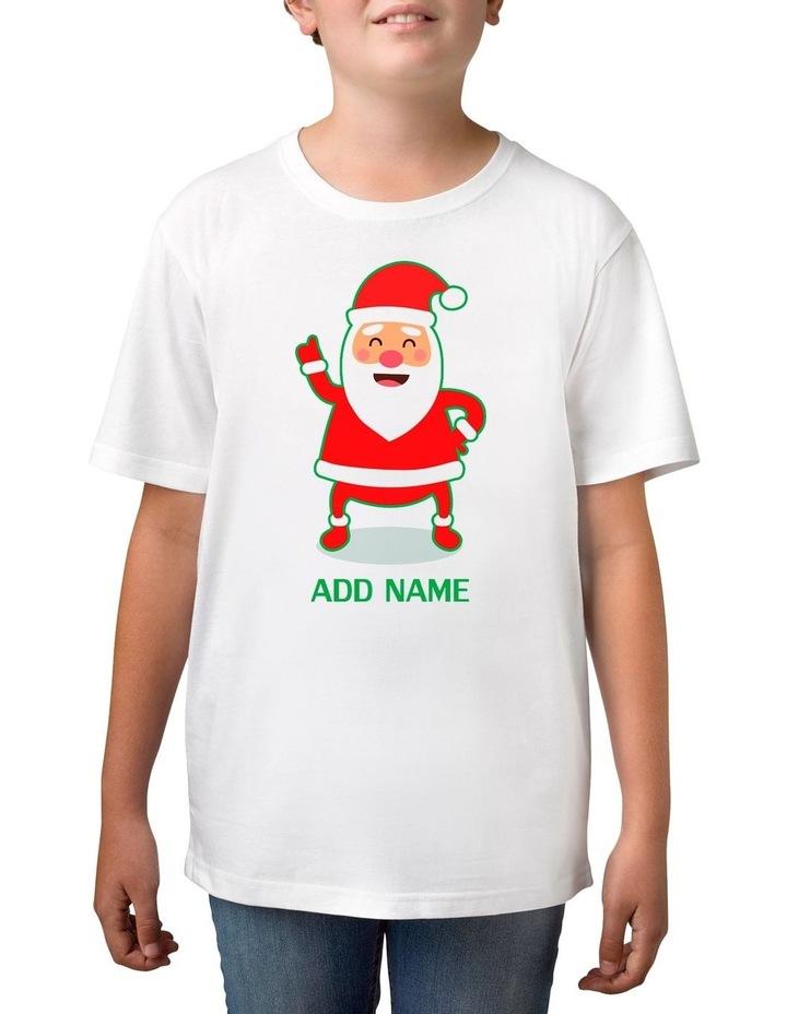 Boy's Cool Santa Personalised Cotton T-Shirt image 1