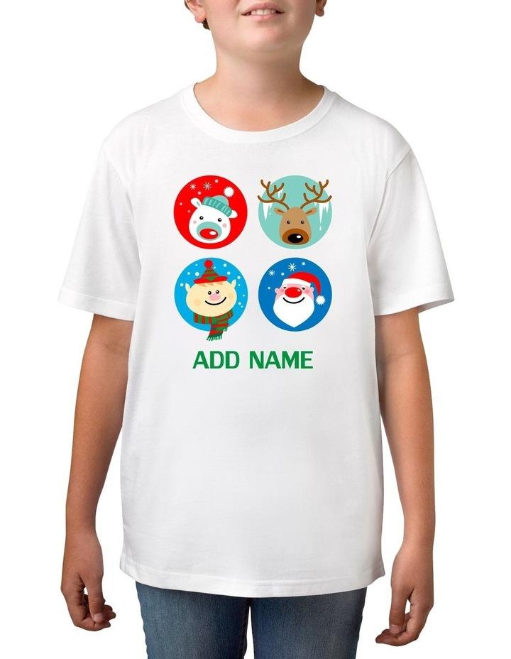 Boy's Xmas 4 Circle Personalised Cotton T-Shirt image 1